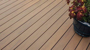 composite decking types brown
