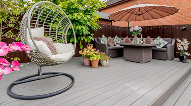 composite decking types grey