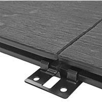 DeckPlus Stainless Steel Black Clip (50pcs)