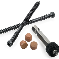 Cortex™ Dark Ashwood Hidden Fasteners (150 pcs)