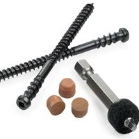 Cortex™ Tigerwood Fasteners (150 pcs)