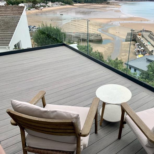 EasyClean Edge+ Sea Salt Grey Composite Decking (3.6m)