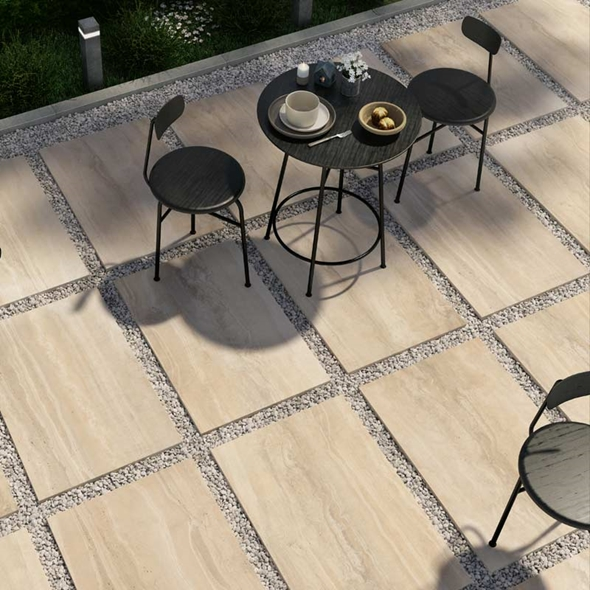 Travertine Cream Paving
