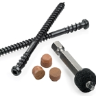 Cortex™ Tigerwood Fasteners (150 pcs)