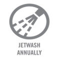 Jet Wash Annually
